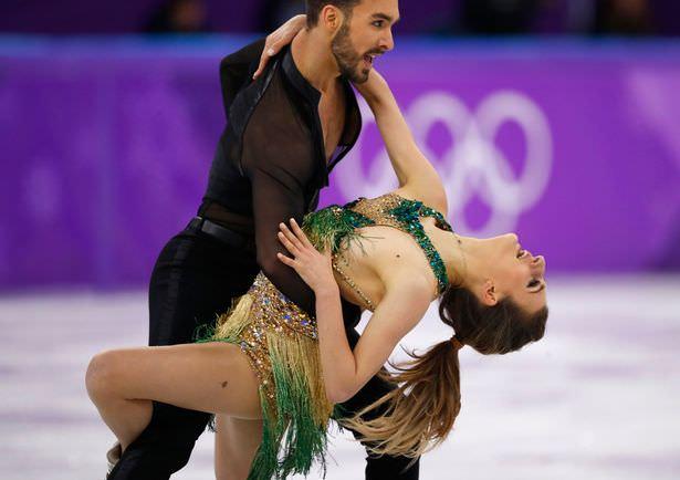 Broadcast, SNAFU, French, Gabriella, Papadakis, Nipple, Exposure, at Pyeongchang, Olympic, Skating, Competition,